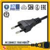 Europe VDE Approval EU 2.5A 250V AC Power Cord 2 Round Pin Plug