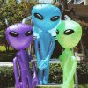 Inflatable Alien Balloons Child Cosplay Halloween House Decoration Kids Tricky Favors 0.8-1.8m ...