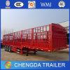 Tri-Axle 40ton Flatbed Fence Cargo Truck Trailer