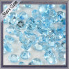 Blue Round Checked Face Diamond Natural Topaz for Jewelry