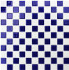 Blue and White Glass Mosaic Tile