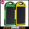 Waterproof Shockproof Portable Solar Charger 5000mAh Power Bank for Mobile Phone
