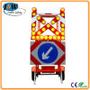 Mobile Solar Traffic Signal Directional Arrow with Trailer