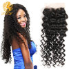 8A Premium Mink Brazilian Hair Deep Wave Lace Closure Brazlian Curly Virgin Hair 4X4 Swiss Lace Size Maxglam Hair Products