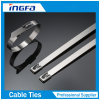 Fast Installed Stainelss Steel Ball Lock Ties Free End Clamps 7.9X400mm