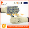Ddsafety 2017 Natural Cotton Polyester Gloves Blue Water Wave PVC