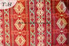 100% Polyester Red Delicate Chenille Jacquard Fabric for Africa Mostly