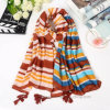 Horizontal Printing Summer Beach Polyester Scarf (HT11)