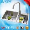 Handmade 304stainless Steel Kitchen Sink in Foshan China