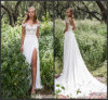 Split Party Prom Gown Lace Chiffon Evening Dress Ld152926