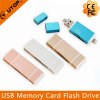 Metal Microsd (TF) +SD OTG Card Reader for iPhone iPad Android Smartphone (YT-R004)