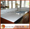 Spray White Quartz Stone Countertop for Kitchen Worktops