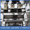 Customized Stainless Steel Wine Rack with Tempered Glasses