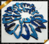 Natural Agate Slices Top Drilled Drusy Beads, Blue Stone Beads (YAD016)