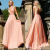New Stylish Floor Length Backless Formal Evening Dress Gown Free Shipping 2013 (CL83)