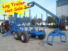 SD Sunco Log Trailer with Crane with CE Certificate
