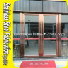 Interior Colored Stainless Steel Glass Entry Security Door