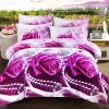 Latest 5D Printed Rose Bedding Sets