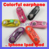 Color Earphone with Mic Headphone Earbud Headset for iPhone 3G 3GS 4G 4GS iPod iPad (SL-721)