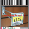 Slatwall Back Steel Wire Retail Display Hook with PVC Price Tag