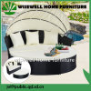 Wicker Rattan Round Sofa Furniture with 4 Seat (WXH-009)