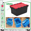 Logistic Plastic Stackable Moving Box with Hinged Lids