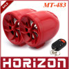 Red MT-483 Motorcycle Audio, Speaker, Motorcycle Audio System, Support SD Card USB Playback and FM Band Radio