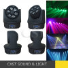 6PCS 15W Osram Bee Eye RGBW 4in1 LED Mini Moving Head Wash