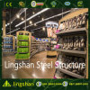 ISO Prefabricated Light Steel Structure Supermarket Construction Building