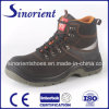 Black Leather Safety Shoes Men Work Boot Snn411