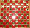 Red Mix Gold Diamond Glass Mirror Mosaic Tile (HD057)