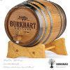 Hongdao Custom Wooden Personalized Pine Oak Paulownia Wine Barrel Mailbox_E