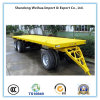 40FT Flatbed Container Trailer, Tractor Trailer with Drawbar