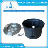 316ss DC12V RGB/White LED Recessed Underwater Lights with PC Caes