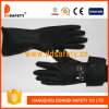 Ddsafety 2017 Black Industry Gloves Embossed Grip and Rolled Cuff