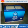 Supermarket Commercial Curved Glass Door Chest Deep Freezer