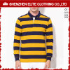 Fashionable Yellow Stripes Cotton Mens Work Polo Shirts (ELTPSI-27)