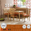 Oak Table and Chair Dining Room Set Wooden Furniture