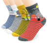 Custom Fashionable Jacquard Sock in Various Designs and Sizes
