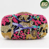 Evening Clutchs Bag Lion and Tiger Pattern Beade Rhinestone Purses Leb748
