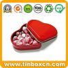 Heart-Shaped Candy Tin Box, Heart Tin Candy Can