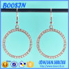 Fashion Crystal Metal Hoop Earrings