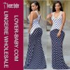 Stripes Maxi Dress Casual Fashion Wear for Lady (L51275)