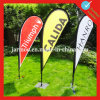 Durable Knitted Polyester Fabric Tear Drop Banners