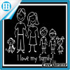 I Love My Family Car Decorative Decal Sticker