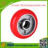 Crown Red PU Cast Iron Korean Type Caster Wheel