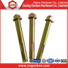 Yellow Zinc Plated Carbon Steel Through Bolt, Anchor Bolt