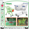 PU Wheels Convenience Store Metal Shopping Trolley Cart