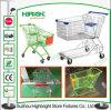 PU Wheels Convenience Store Metal Shopping Trolley Cart