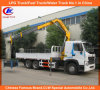 Heavy Duty HOWO A7 Lorry Truck with Crane